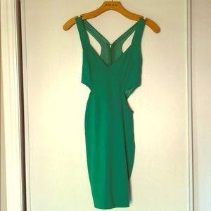 Bebe Green cut-out dress
